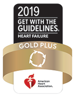 American Heart Association's Get With The Guidelines® Gold Quality Achievement Award Heart Failure Recognition logo