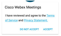 WebEx Meeting Step 3 on Smart Phone or Tablet
