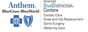 Blue Distinction® Center for Cardiac Care, Knee and Hip Replacement, Spine Surgery and Maternity Care logo